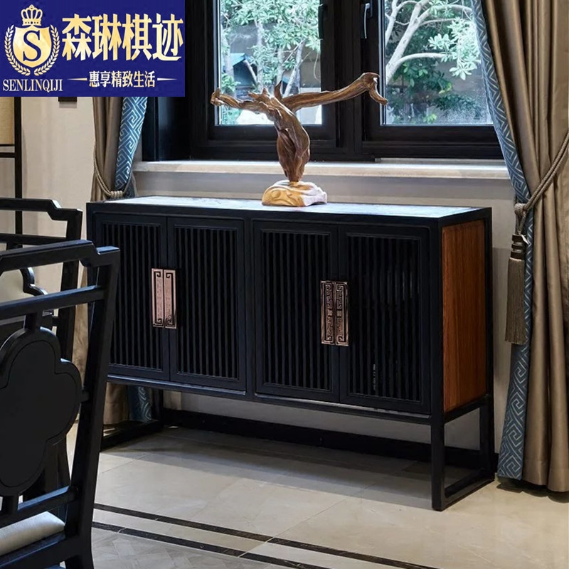 Sen lin chess zen trace foyer cabinet tea cabinet sideboard new chinese minimalist shoe lockers entrance tearoom