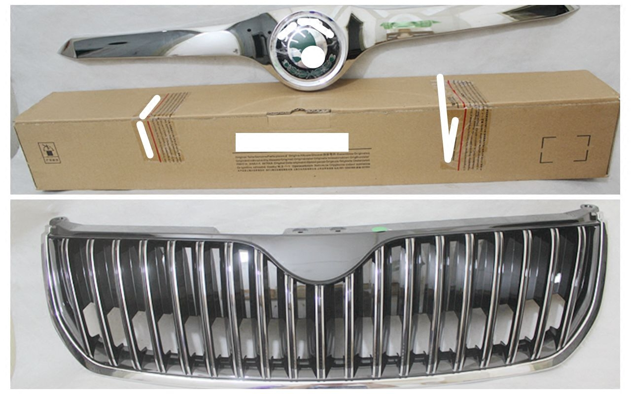 Skoda hao rui grille chrome grille mesh grille gate top with modified models with light strip in the net