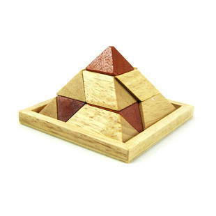 Than the gifted adult wooden educational toys classic toys ming lock luban lock oaken pyramid