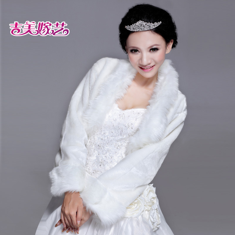 2016 new wedding shawl wool shawl bride dress accessories korean suit winter bride wedding shawl PJ00 8