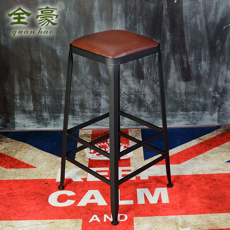 American iron starbucks wood tall bar tables and chairs retro iron bar stool bar stool chair backrest chair pot shop