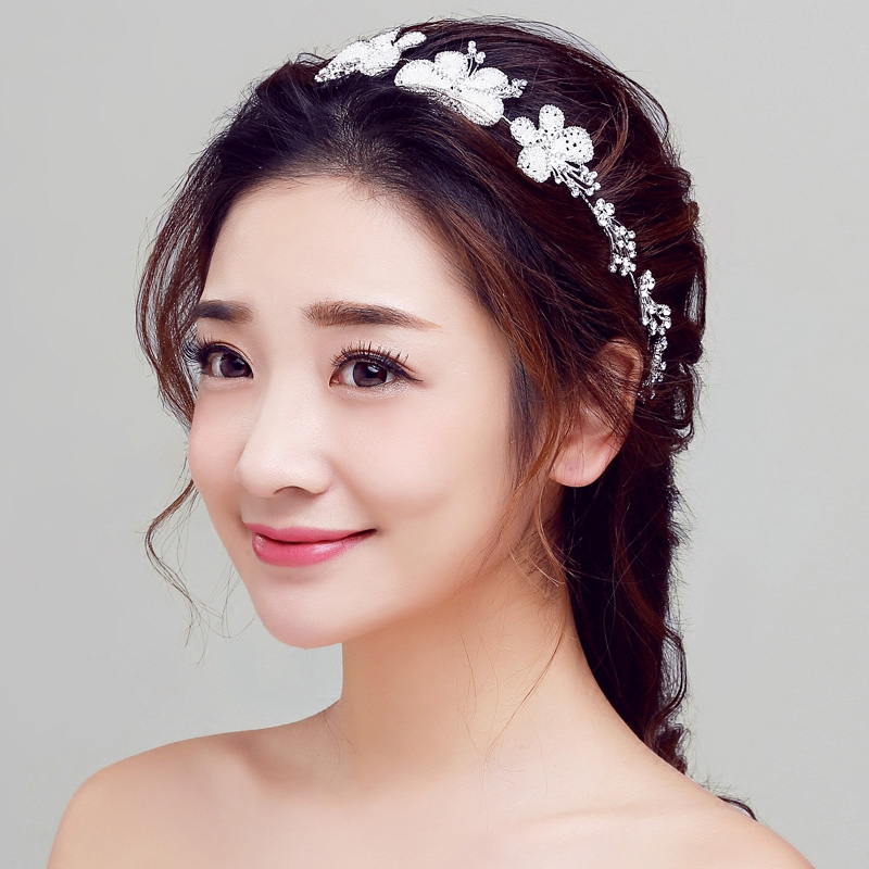 Bridal headdress korean wedding jewelry wedding jewelry crown headdress hair accessories wedding dress accessories hair bands