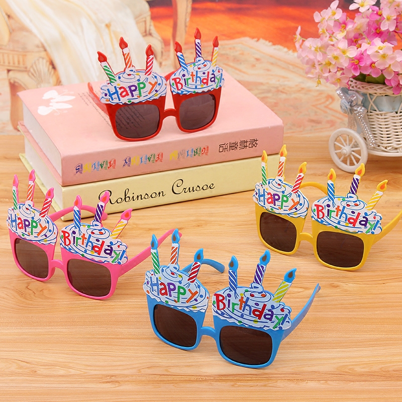 Children's birthday party glasses kids personalized creative cute cartoon comfortable weeks old mask party decoration