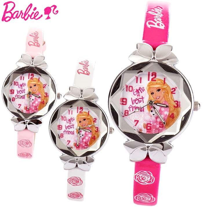 Genuine barbie princess children watch girls girl cute students luminous waterproof luminous quartz watch