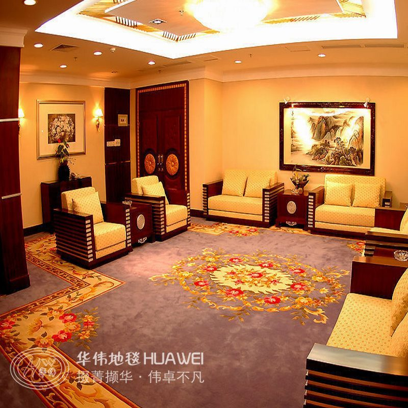 Huawei handmade acrylic carpet engineering office conference room den hotel paved upscale rich chinese peony