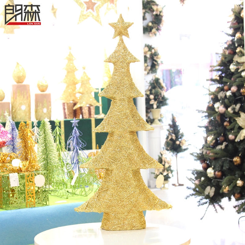 Lang sen 90cm golden christmas tree christmas decorations christmas scene decorated christmas ornaments christmas tree hotel