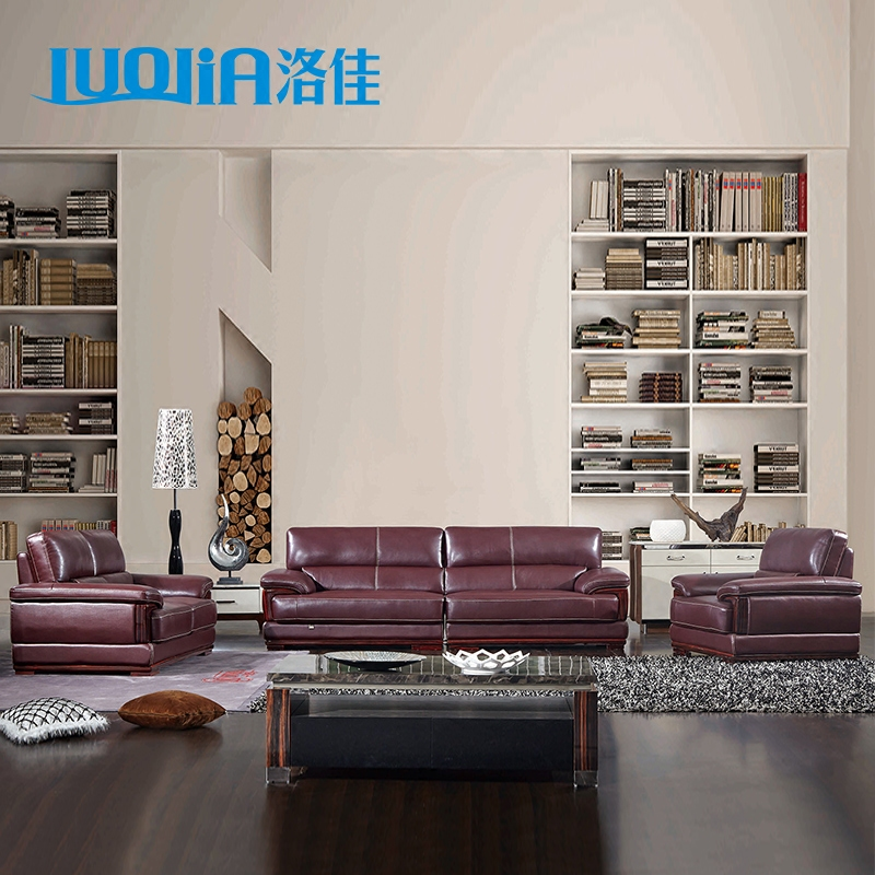 Luju big three down modern minimalist living room corner apartment imports in the first layer of thick leather sofa arts