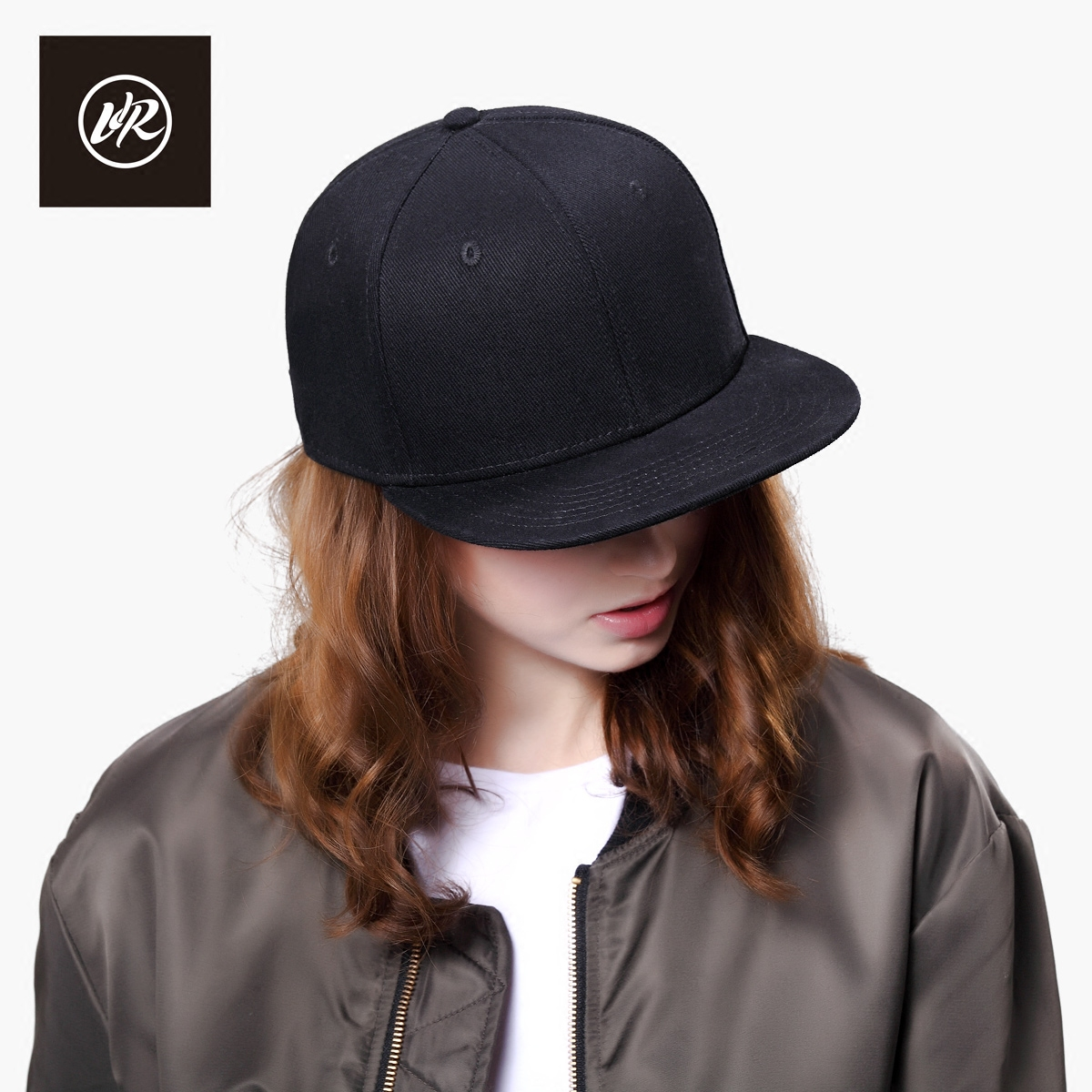Pre-2015 visrock hip-hop hat cap hat female autumn and winter solid black male korean version of hip-hop cap flat along hat sun hat