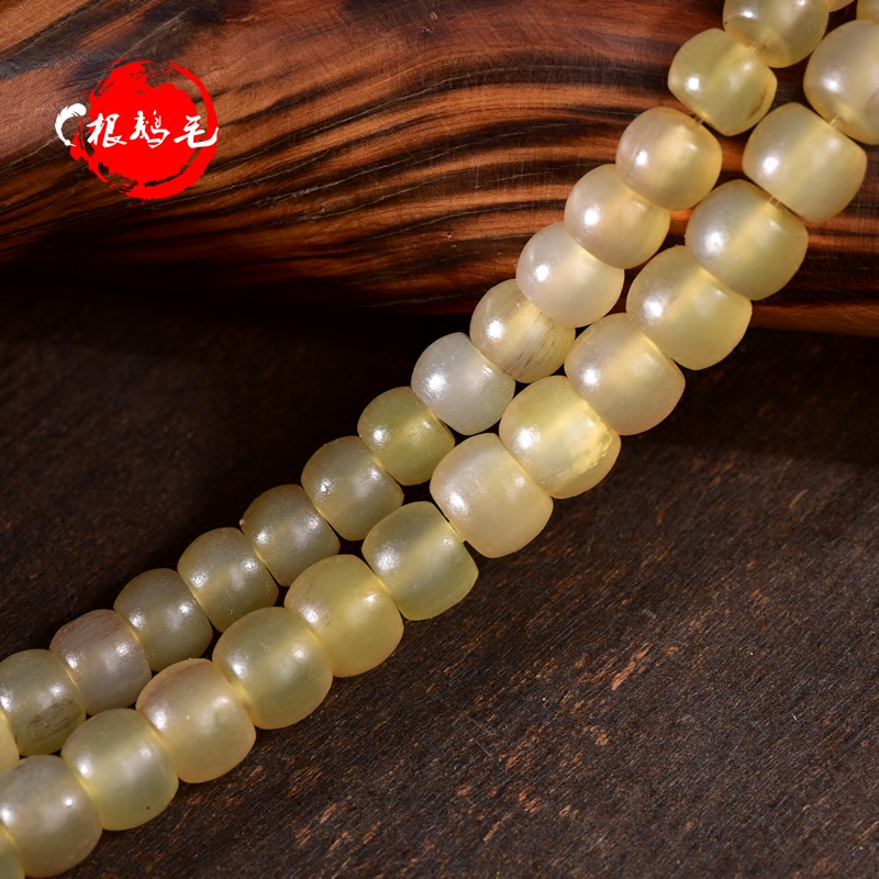 Run through the natural horn spacer beads xingyue bodhi small diamond bracelets man playing rosary beads jewelry accessories loose beads