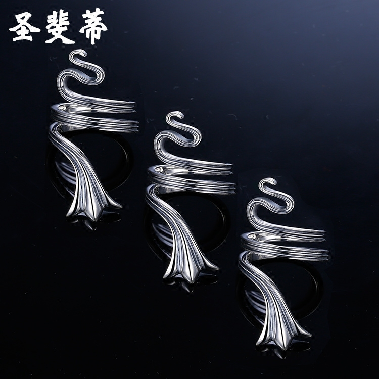 St. fei di snakelike thai silver to do the old wild ring ring ring female creative personality in europe and america a couple of men and women gifts