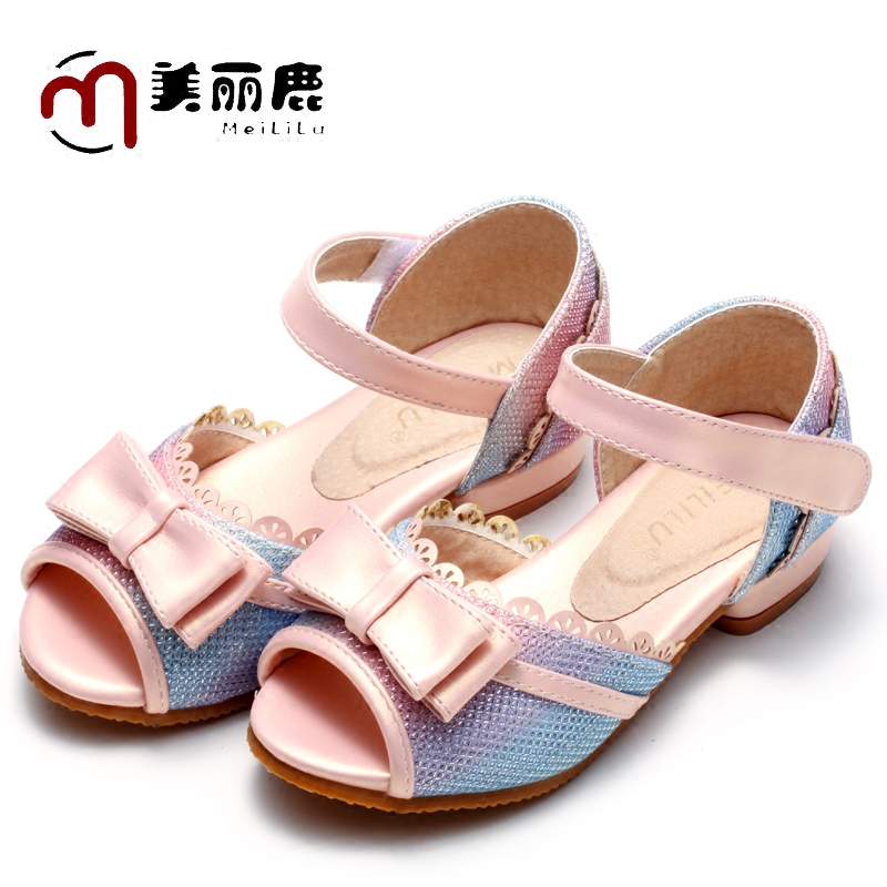 2016 summer new children's sandals big virgin girls high heels korean princess shoes dance shoes student shoes fish mouth