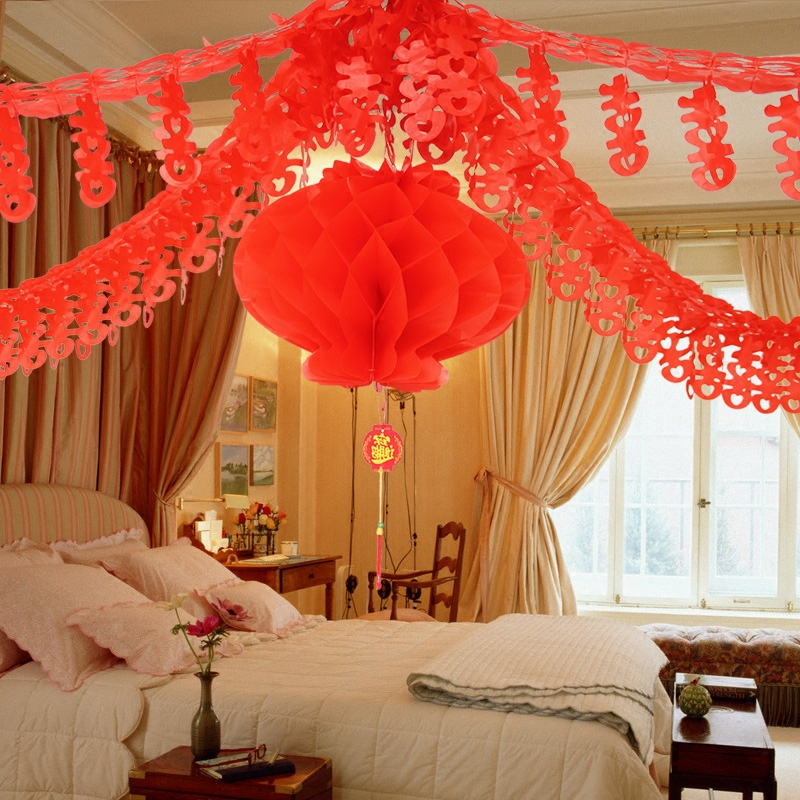 Arranged marriage room garland wedding marriage new house marriage room decoration supplies wedding supplies arranged marriage room supplies