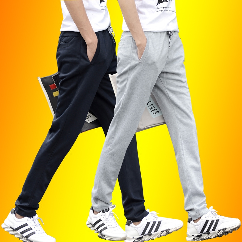 Autumn male sports wei pants jogging pants zipper pocket big yards slim straight men straight casual pants youth