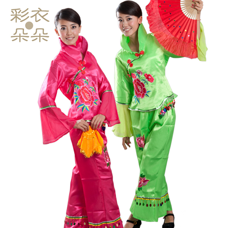 Dreamcoat blossoming new boutique han ethnic dance costume stage fan dance stage performance clothing collar dress 2018
