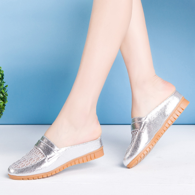 East timor were square genuine new slope with sandals and slippers female summer sandals and slippers female summer sandals baotou heel sandals women