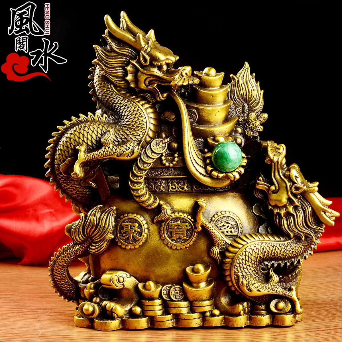 Feng shui house opening of pure copper dragon ornaments cornucopia cornucopia feng shui ornaments dragons disc twelve lunar new year of the dragon