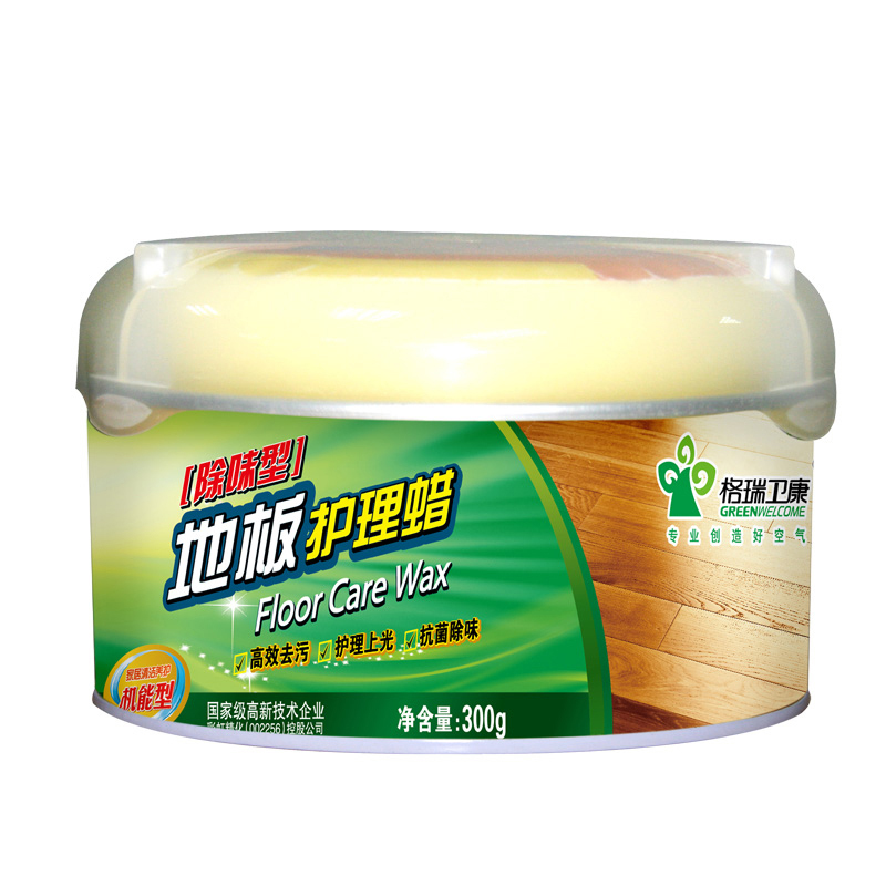 [Free shipping] wei kang outgrabe bamboo wood floor care wax 300g resistant tiles marble floor waxing