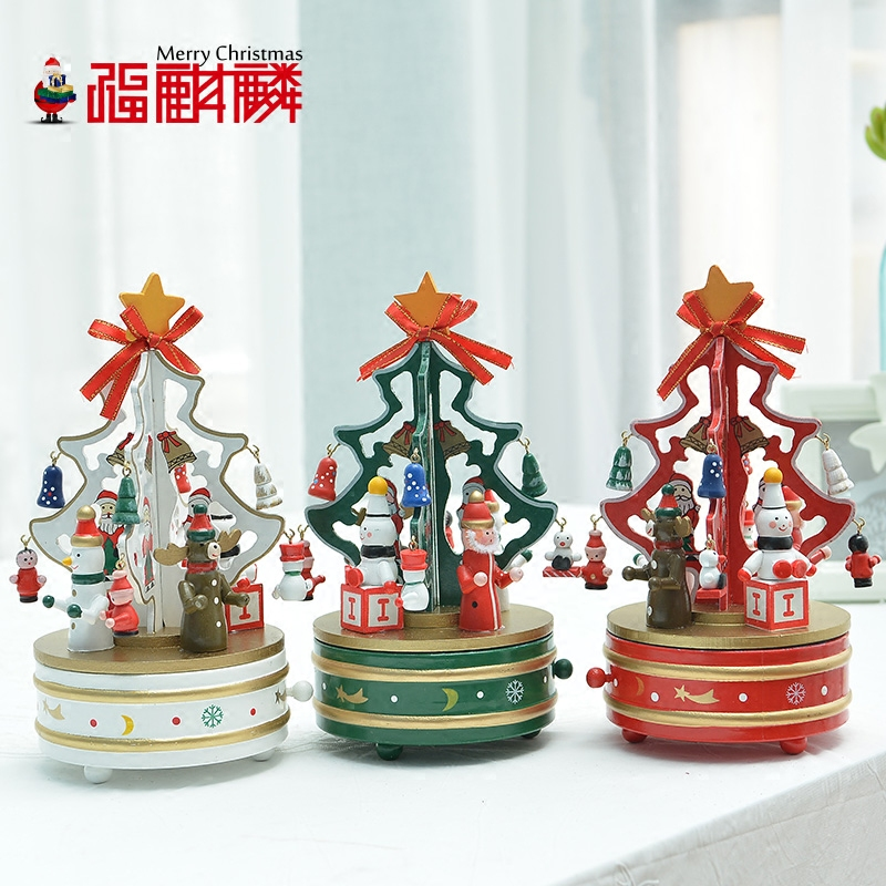 get quotations fu unicorn woodiness desktop christmas tree music box music box christmas decorations christmas ornaments - Japanese Christmas Tree Decorations