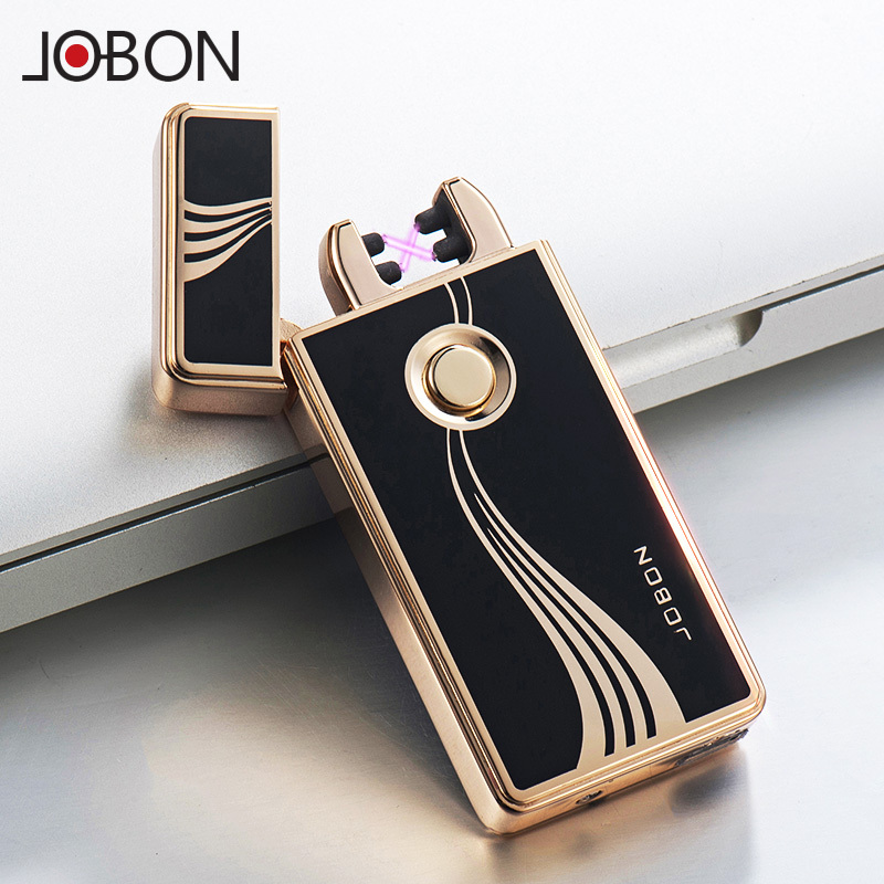 Jobon bang double arc usb charging lighter creative windproof lighter metal electronic cigarette