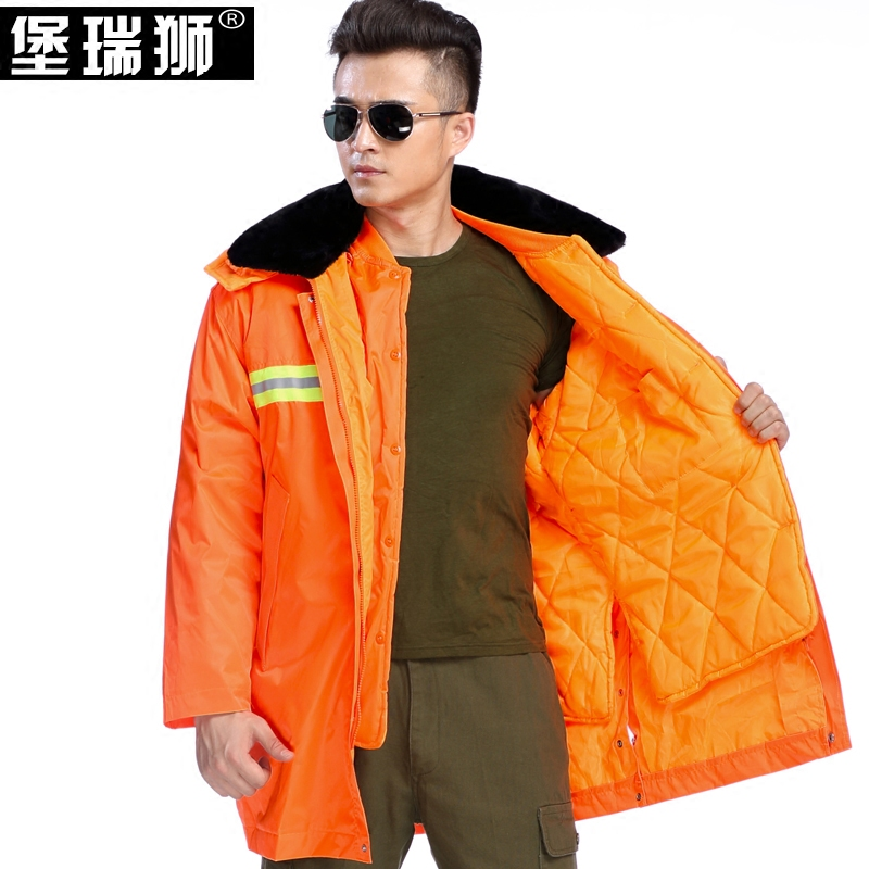 Maids' highway sanitation cleaners cleaning cotton coat thick cotton padded clothes coat waterproof reflective coat labor