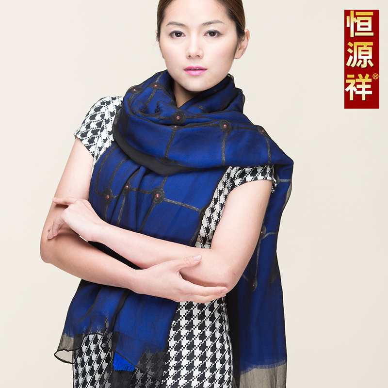 Ms. heng yuan xiang wool scarf shawl scarf autumn and winter scarf silk scarves solid color simple casual 2015