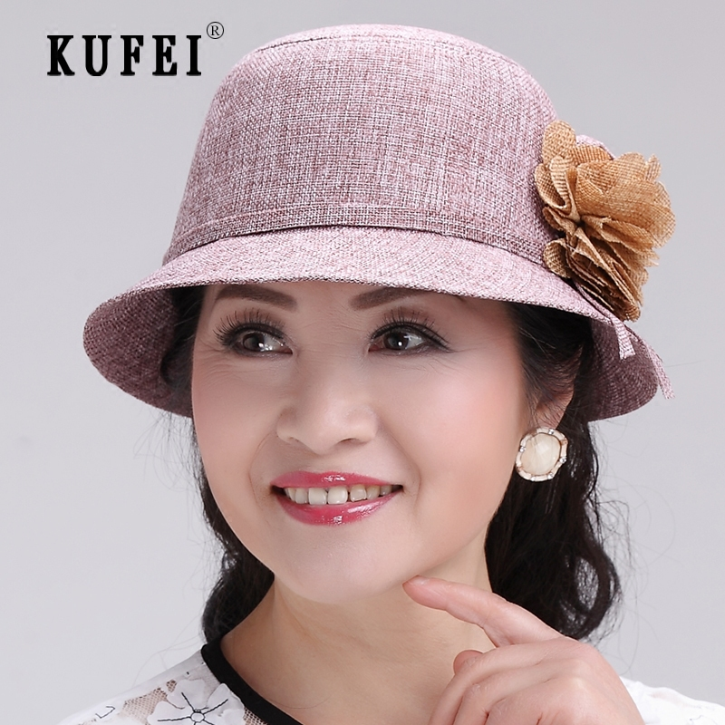 bfbb62b577d Get Quotations · Ms. summer bucket hats fashion hats in the elderly mom  breathable sun hat sun hat