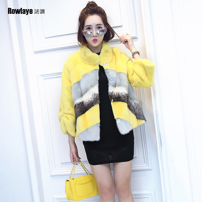 Rowlaye/novo lan haining fur coat women 2016 new winter mink fur mink fur coat conventional models