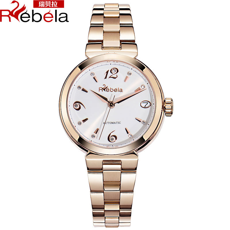 Ruibei la korean version of the simple sapphire strip waterproof mechanical watch female fashion watch ladies watches
