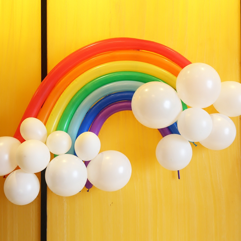 Thick long magic balloon rainbow creative children's birthday party balloon wedding packages arranged marriage room decoration