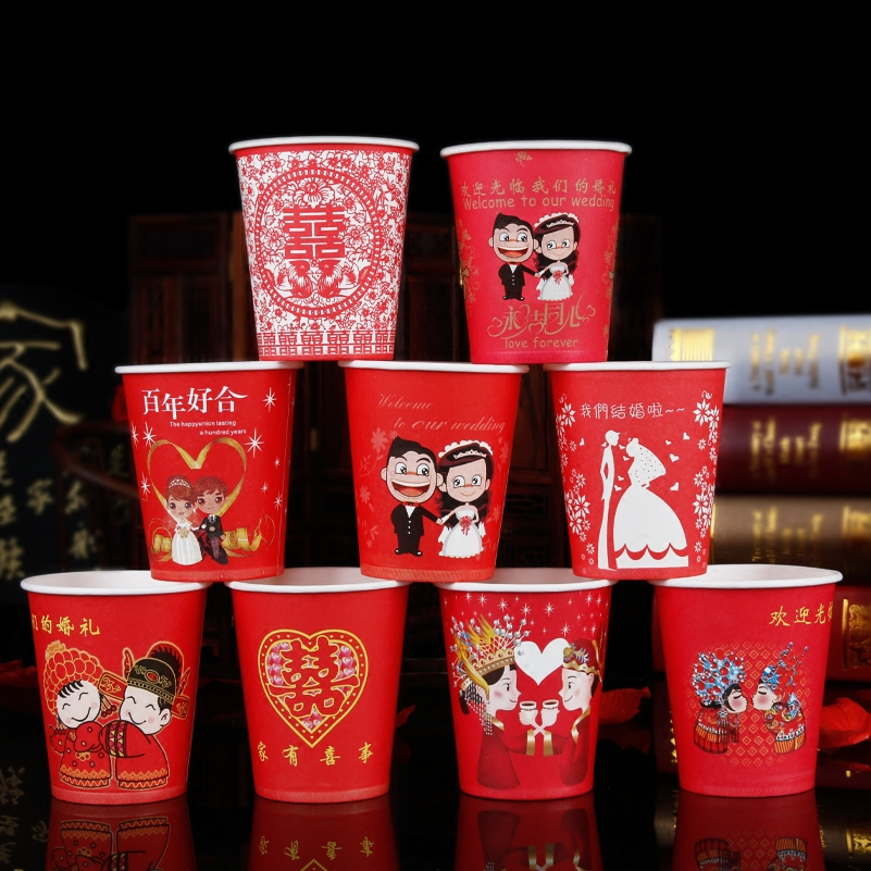 Wedding supplies wedding supplies wedding marriage room layout hi cups disposable cups wedding wedding cartoon