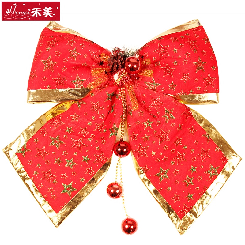 Wo us bow large red cloth bow christmas decorations hotel mall christmas decoration scene