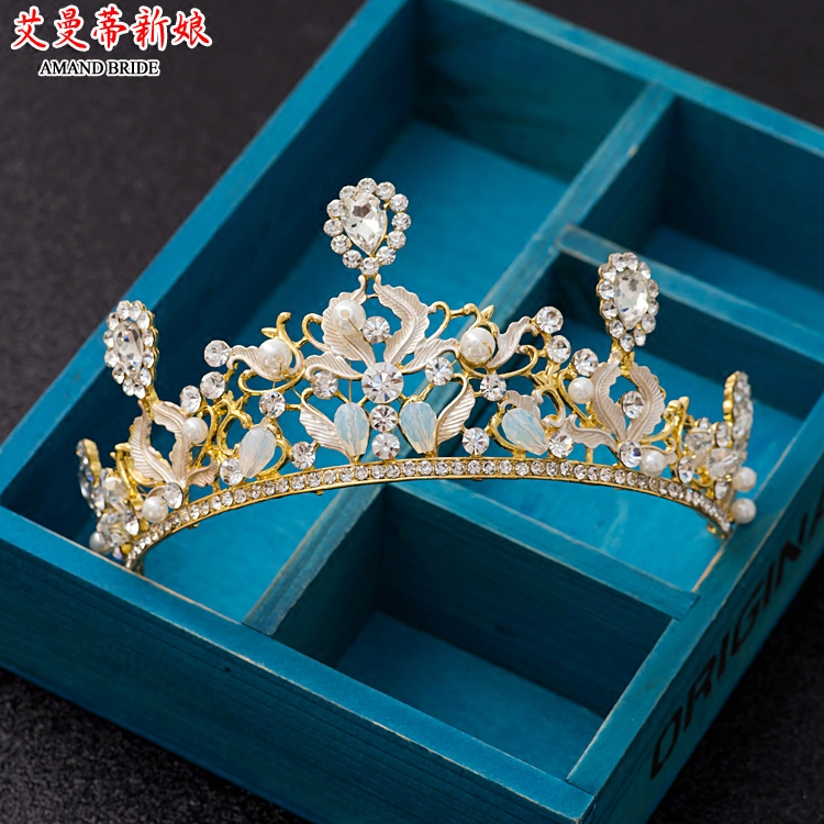 Yi mandi bride crown studio with a queen crown jewelry bridal headdress hair accessories with jewelry crown princess crown